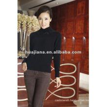 women's warm cashmere winter black sweater
