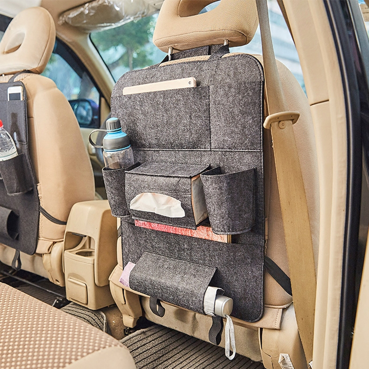 Felt Car Backseat Organizer for Baby Travel Accessories