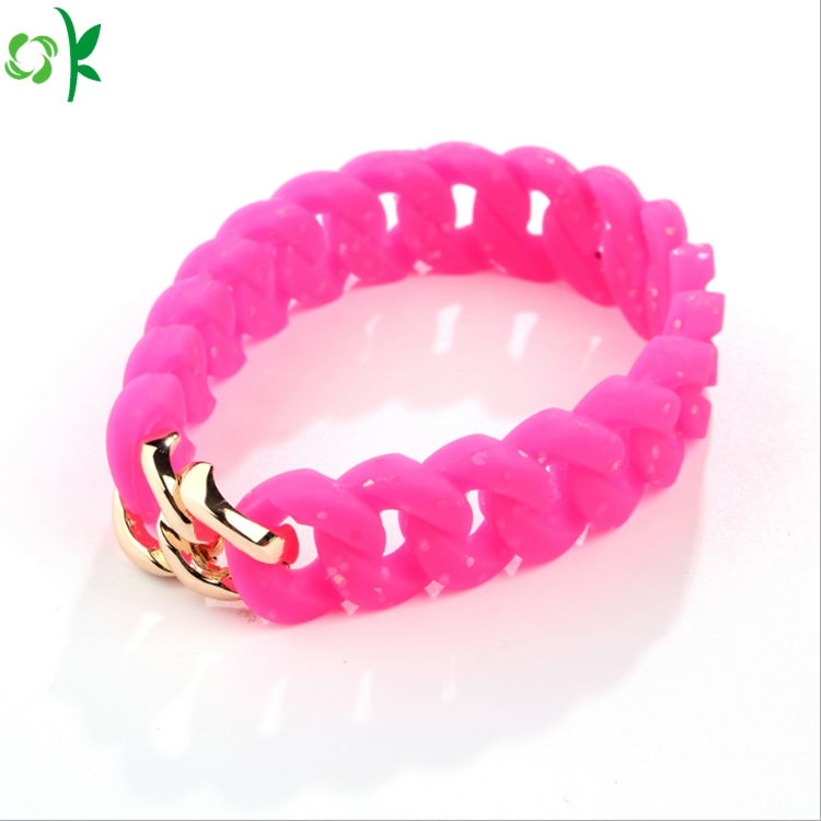 Personalized Yellow Pink Tire Siliconering Bracelet