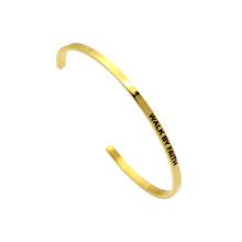 Gold Name Stempel Inspiration Bland Edelstahl Manschette Armreif
