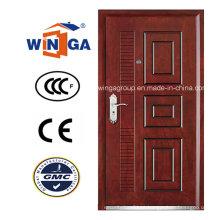 Bom preço aço inoxidável de luxo MDF - porta blindada de madeira (W-A15)