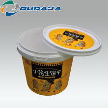 customized Round Plastic bucket Container