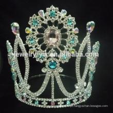 Grande quente atacado Halloween abóbora pageant costume cristal tiara coroa
