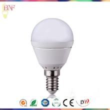 Boîtier E14 d'ampoules de jour d'usine de G45 LED en aluminium
