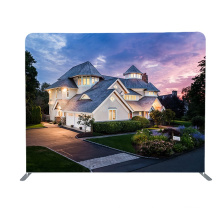 custom portable tension fabric aluminum frame stand trade show collapsible backdrop