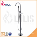 New Chrome Finish Bathroom Floor Standing Tub Faucet Single Handle Shower Mixer