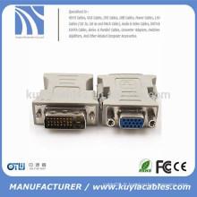 Plaque plaquée or / nickelé haute qualité DVI vers adaptateur VGA DVI Adaptateur femelle mâle vers VGA