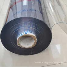Feuille en plastique flexible colorée de PVC transparent