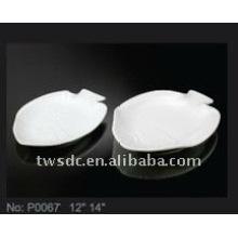 Белый керамический рыбы пластины/посуда для Отель & Ресторан (P0067)