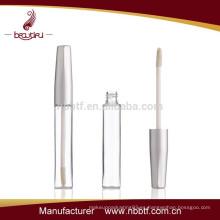 Botella de plástico cosméticos transparente Lipgloss Tube