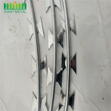 Single Coil Cross Type BTO-22 Galvanized Razor Wire