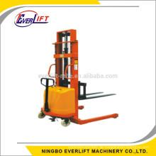 1000 kg 1600mm semi elektrische straddle stacker Hand Elektrische Breite Beinstapler Manuelle Powered Lifter