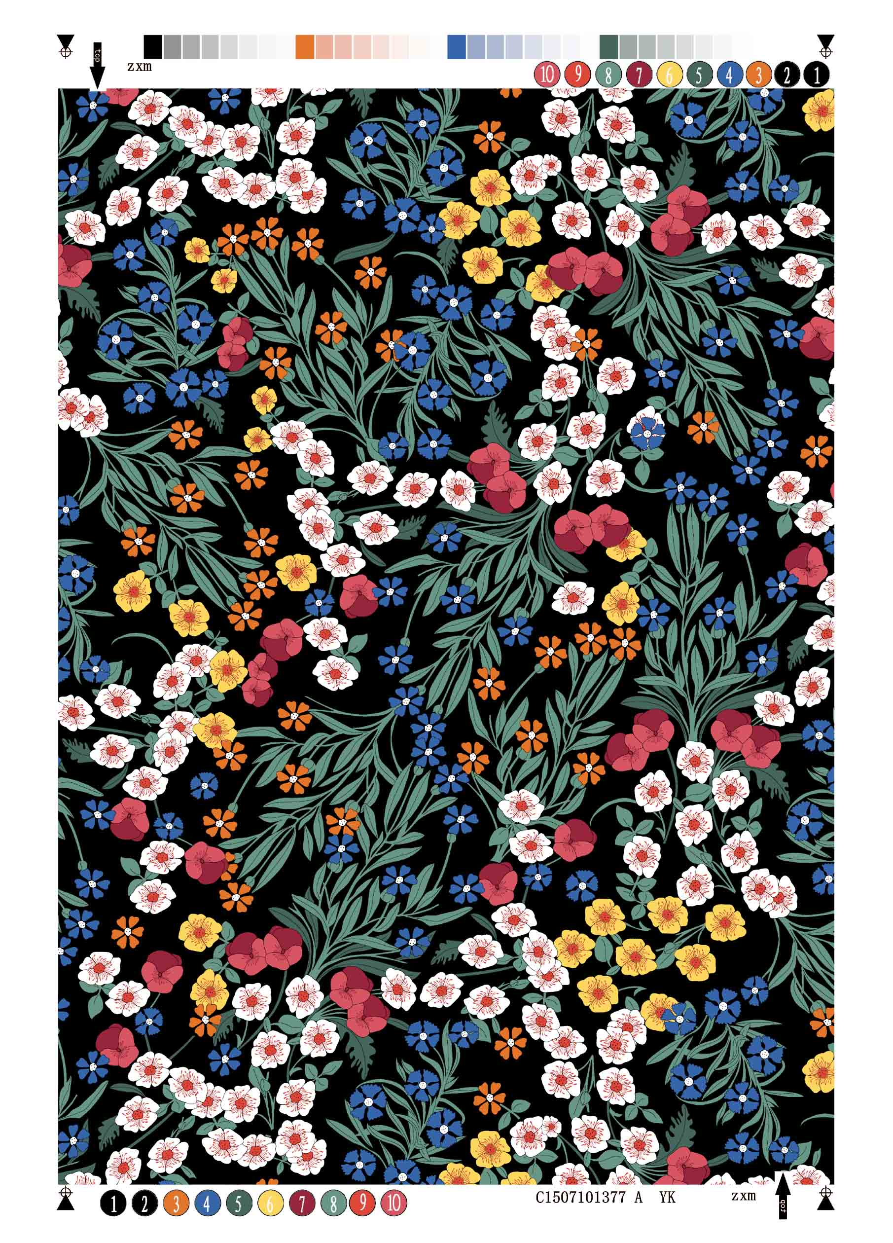 Rayon Twill Printing Fabric Flower