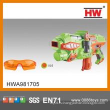 Новый дизайн 41см Пластиковая детская игрушка с пулеметной игрушкой со стеклянным и маленьким бумерангом
