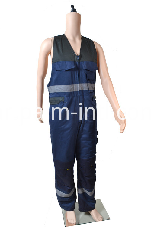 Polyester/Cotton Sleeveless Winter Coverall