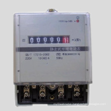 Plastic Base Single Phase Electronic Kwh Meter