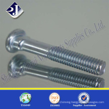Track Bolt (zinc plated) with Gr8.8 Oval Neck
