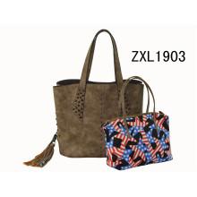 Italia Diseñador Marcas Logo Fabricantes Lady PU Leather Handbag (ZXL1903-3)