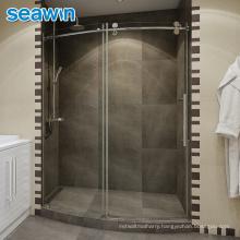 Seawin Enclosure Morden Hotel Bathroom Room Curved Sliding Tempered Glass Shower Door