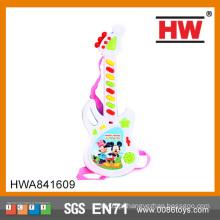 Mais popular brinquedo de plástico elétrica guitarra para crianças instrumento musical