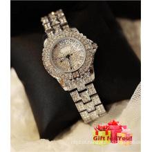Relógio de pulso de senhora cheio de cristal espumante de luxo Relógio de pulso de senhora especial Cestbella