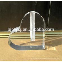 оптовая пользовательские в форме сердца логотип кристалл стеклянная ваза для настольный украшения
