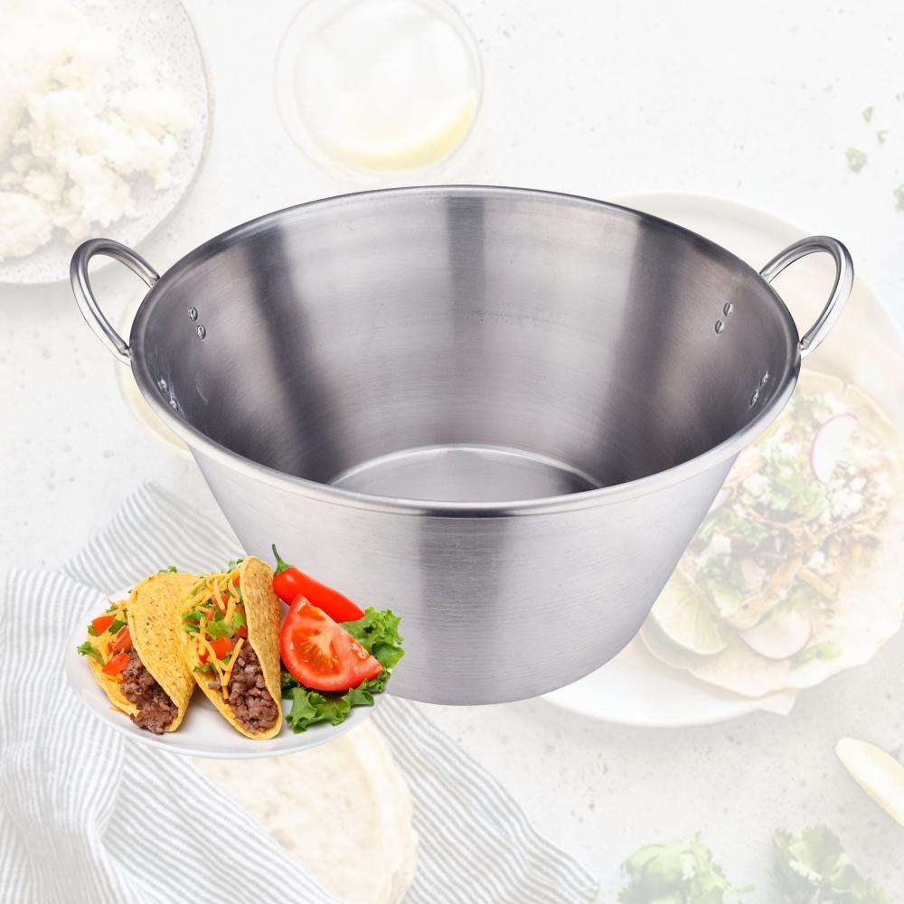 41QT Heavy Duty Stainless Steel Large Cazo Comal