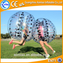 La mejor pelota de parachoques del adulto de la venta / bola de cristal de la burbuja / bola de la burbuja para el fútbol