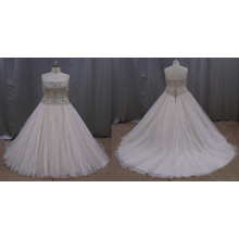 Bride Wedding Dress with Appliqued Beaded