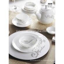 A003-1 Juego de cena ligero de porcelana