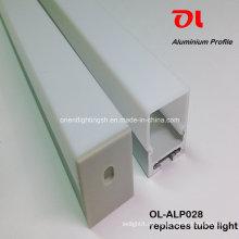 Alp028 Eloxiertes LED-Profil aus hängendem Extrusionsaluminium