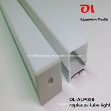 Profilé à LED en aluminium extrudé suspendu anodisé