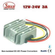 Fonte de alimentação do carro do conversor de 12V-24VDC 3A DC-DC com IP68 impermeável
