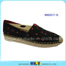 High Quality Canvas DOT Pattern Footwear Casual Shoes