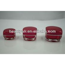 Nwe Square Luxury Acrylic Cream Jar