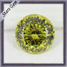 Имитированные бриллианты Желтый кубический драгоценный камень циркония