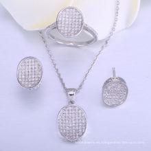 conjuntos de joyas de boda para novias joyas set 925 collar y anillo de plata esterlina