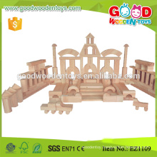 Zhejiang 200pcs handmade wooden toy Building Blocks for kids