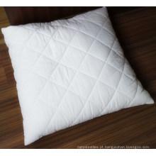 Travesseiro acolchoado e capa de travesseiro em tecido de algodão