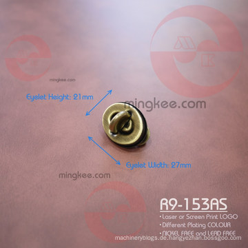 Für Ledertaschen aus Metall Zubehör Oval Twist Turn Lock