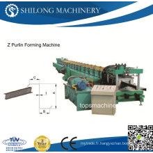 Machine de formage de rouleaux à haute vitesse Z Purlin