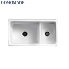 Stylish luxury matt white glossy white top-mount kitchen sink