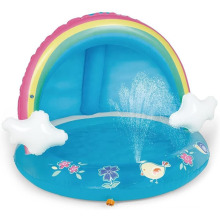 Rainbow Infant Pool  With Canopy And Spray