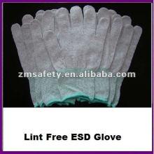 Gant ESD en nylon tricoté conducteur sans couture