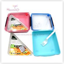 Bento boîte de rangement en plastique boîte à lunch alimentaire (1000ml)