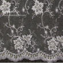 Beading Broderie Robe de mariée en dentelle française Tissu en dentelle stretch No.CA023B