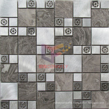 Aluminium with Steel and Marble Mosaic Tile (CFM1005)