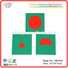 Montessori Language Materials Educational Toys Metal Geometry Board Game