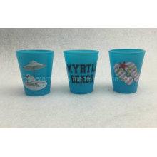 Blue Color Schnapsglas Ob für den Verdauungsschnaps, Wodka-Gelee oder Trinkspiele, unsere personalisierten Schnapsgläser verleihen deinem Barinventar einen individuellen Look