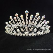 Acessórios de cabelo barato atacado cristal flor coroa headband